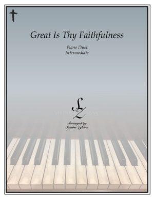 Great Is Thy Faithfulness -Intermediate Piano Duet