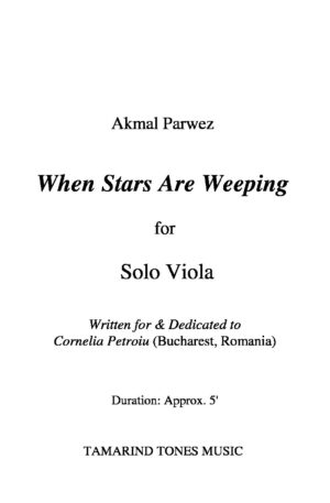 When Stars Are Weeping for Solo Viola