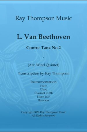 Beethoven (as adapted Seiss): Contre-Tanze (Country Dance) No.2 – wind quintet