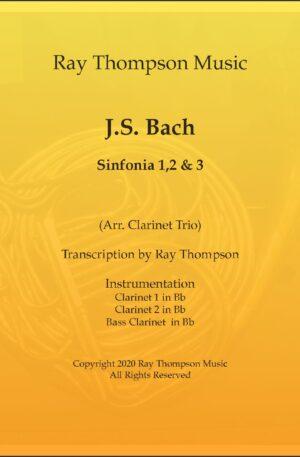 Bach Sinfonia Nos.1,2 & 3 – Clarinet Trio