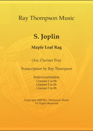 Scott Joplin: Maple Leaf Rag – clarinet trio