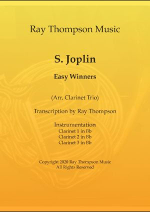 Scott Joplin: The Easy Winners (Rag) – clarinet trio