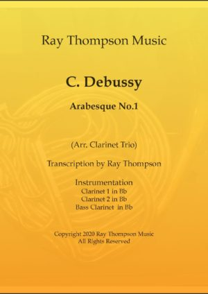 Debussy: Arabesque No.1 – clarinet trio