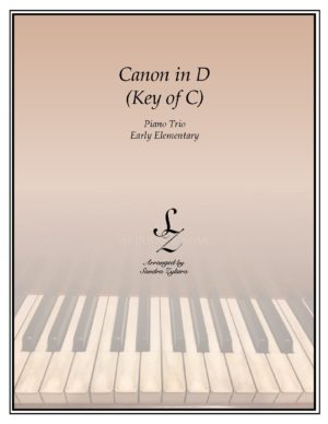 Canon In D (Key of C) – Piano Trio