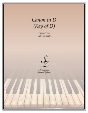 Canon In D (Key of D) – Piano Trio