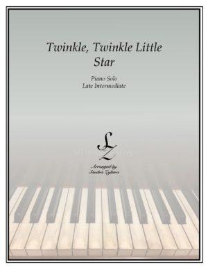 Twinkle, Twinkle Little Star -Late Intermediate Piano Solo