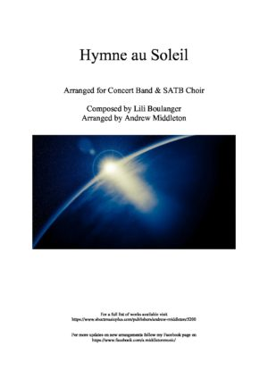 Hymne au Soleil for Concert Band & Choir