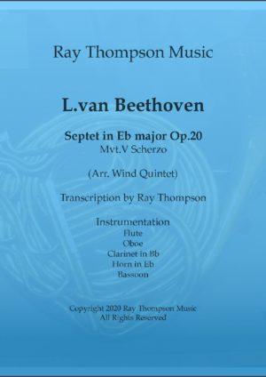 Beethoven:Septet Op.20 Movement.V Scherzo – wind quintet