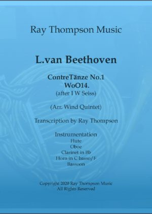 Beethoven: (as adapted Seiss): Contre-Tanze (Country Dance) No.1 – wind quintet