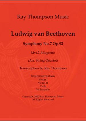 Beethoven: Symphony No.7 Op.92 II.Allegretto – string quartet