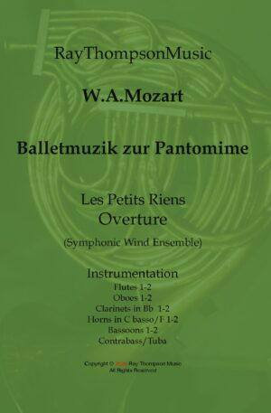 """Mozart:Balletmuzik zur Pantomine """"Les petits riens"""" Ouverture – symphonic wind dectet/bass"""