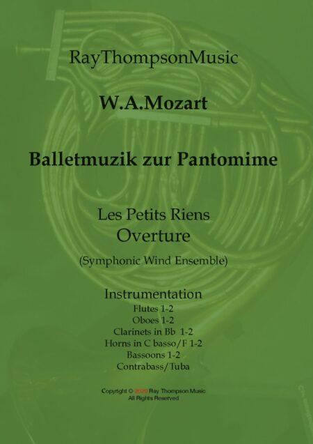 Balletmuzik zur Pantomine Les petits riens Ouverture title pdf