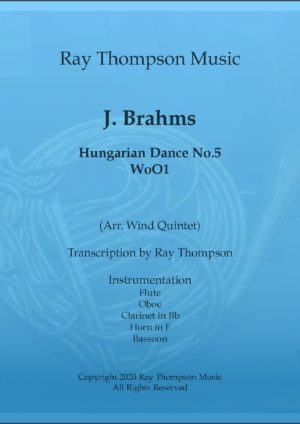 Brahms: Hungarian Dance No.5 – wind quintet