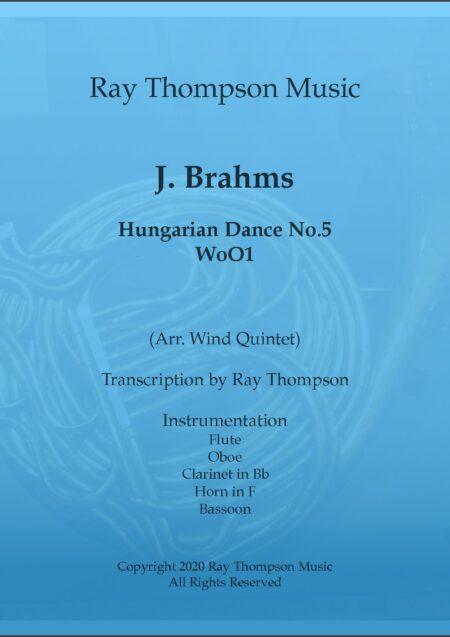 Hungarian Dance No 5 title pdf