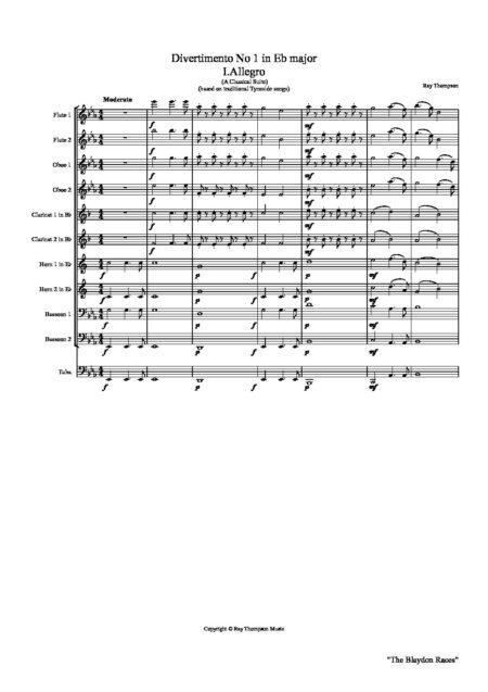Divertimento no 1 in Eb aswe w10 Full Score pdf