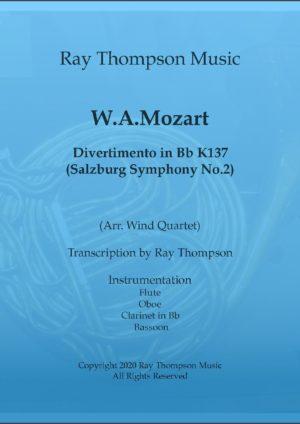 Mozart: Divertimento in Bb K137 – wind quartet