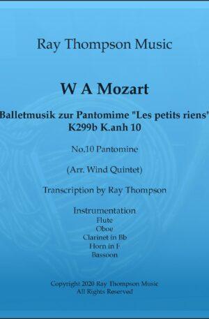 Mozart: Balletmusik zur Pantomime – 12.Pantomine – wind quintet