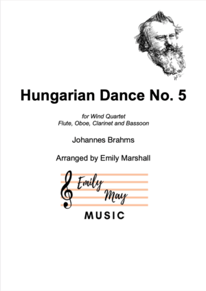 Hungarian Dance No. 5 – J Brahms (for Woodwind Quartet)