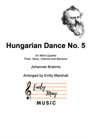 Hungarian Dance No. 5 – J Brahms (for Woodwind Quartet)