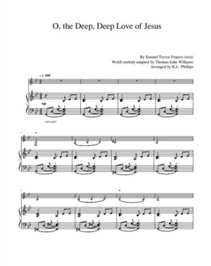 O, the Deep, Deep Love of Jesus – Violin Solo with Piano Accompaniment