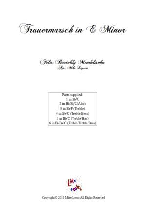 Mendelssohn – Trauermarsch Op. 62 (Flexible Sextet)