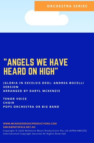 Angels We Have Heard on High (Gloria in Excelsis Deo)- Andrea Bocelli- Tenor Voice, Choir and Pops Orchestra or Big Band