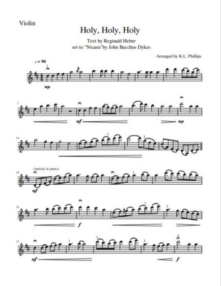 Holy Holy Holy Sample pg 3 violin