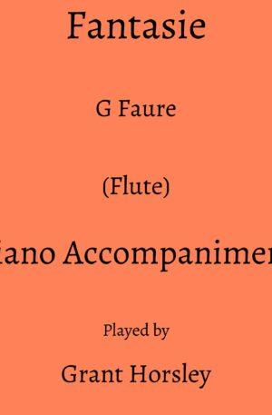 G Faure: Fantasie (Flute) Piano accompaniment track (MP3)