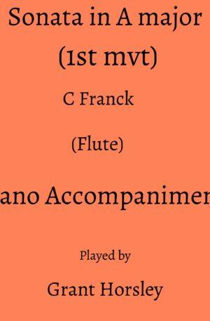 C Franck : Sonata in A Major (1st Mvt) -Flute- Piano accompaniment track (MP3)