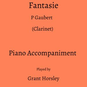 Gaubert :Fantasie. (Clarinet)- Piano accompaniment track (MP3)