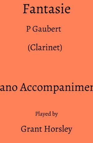 Gaubert :Fantasie. (Clarinet)- Piano accompaniment track (MP3)