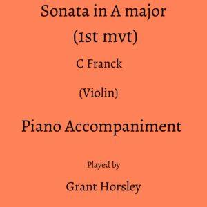 C Franck :Sonata in A major (1st mvt) Violin -Piano accompaniment track (MP3)