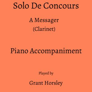 Messager: Solo De Concours (Clarinet)- Piano accompaniment track (MP3)