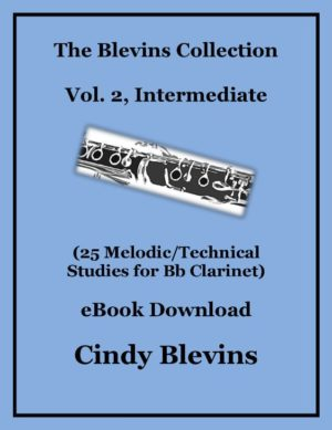 Clarinet Studies, Intermediate (25 Melodic/Technical Studies) Bundled with piano accompaniments and mp3 play-alongs