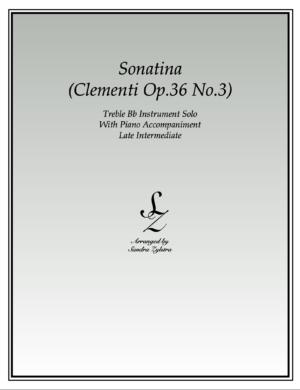 Sonatina-Clementi (Op. 36, No. 3) -Treble Bb Instrument Solo