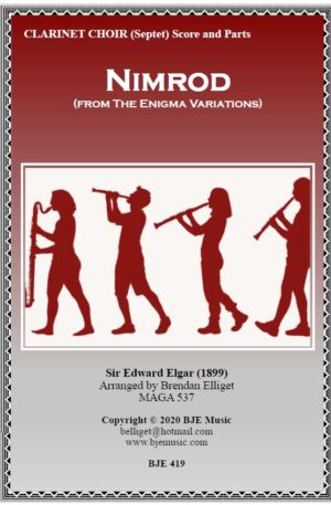 Nimrod (from The Enigma Variations) – Clarinet Choir (Septet)