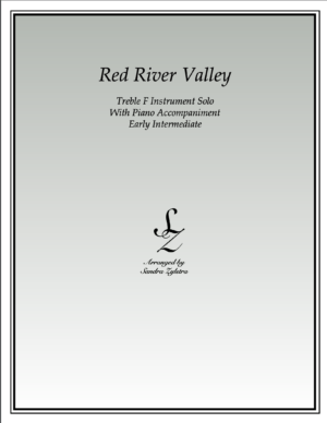 Red River Valley -Treble F Instrument Solo
