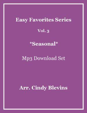 Easy Favorites for Harp, Vol. 3, Seasonal, mp3 recording set