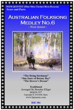 Australian Folksong Medley No. 6 – Wind Quintet