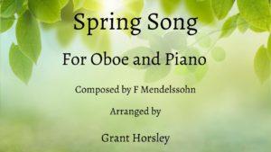 """Spring Song"" Mendelssohn- Oboe and Piano- Early Intermediate"