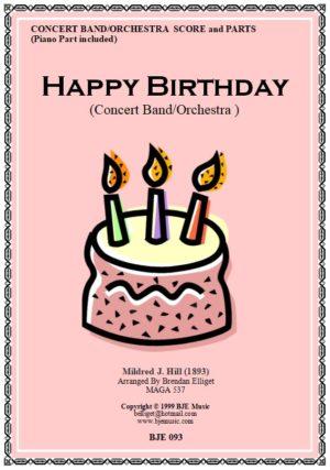 Happy Birthday – Concert Band/Orchestra