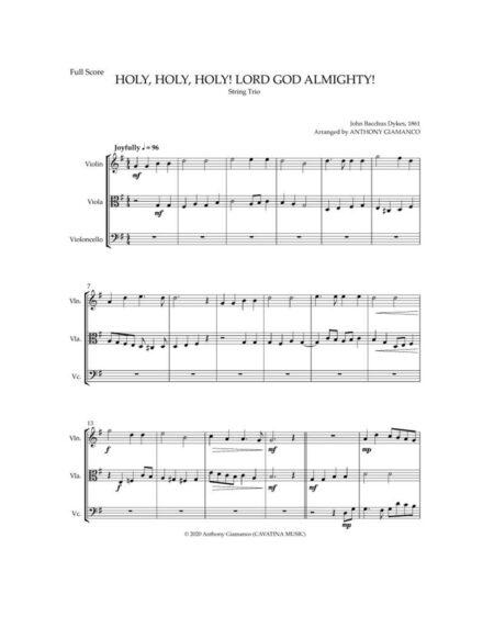 HOLY HOLY HOLY - string trio