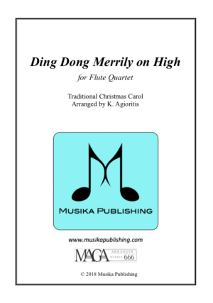 Ding Dong Merrily on High – Jazz Carol for Flute Quartet