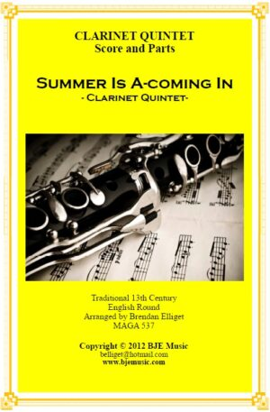 Summer Is A-coming In – Clarinet Quintet