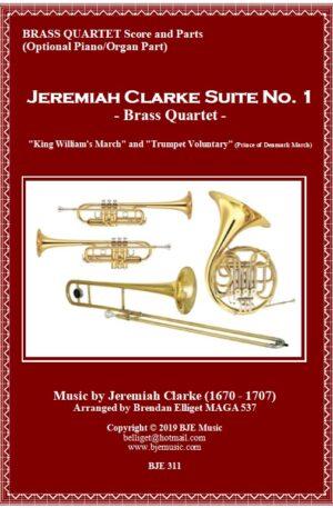 Jeremiah Clarke Suite No. 1 – Brass Quartet with Optional Organ