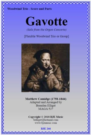 Gavotte (Camidge) – Flexible Woodwind Trio