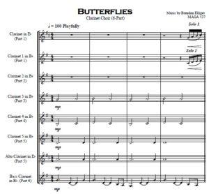 Butterflies – Clarinet Choir