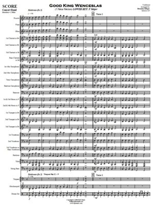 Good King Wenceslas – Concert Band