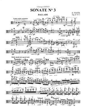 """Eugène Ysaÿe: Violin Sonata No. 3 (""""Ballade"""") – Transcribed for Viola"""