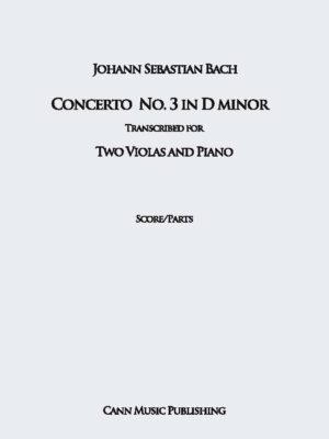 J.S. Bach: Double Concerto in D Minor for Two Violins – Transcribed for two Violas